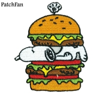 Patchfan dog embroidery cartoon Applique patches stickers pour sewing shirt clothing para jacket badge iron on t-shirt A1619