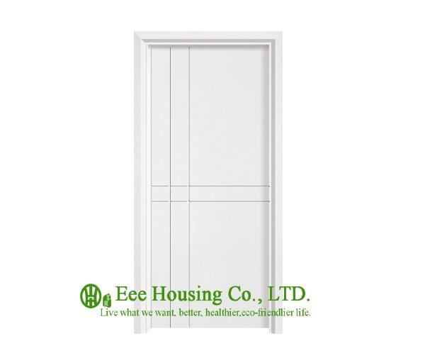 40mm Thickness Timber Veneer Door For Apartment Swing Type Door Inward Outward Opening Entry