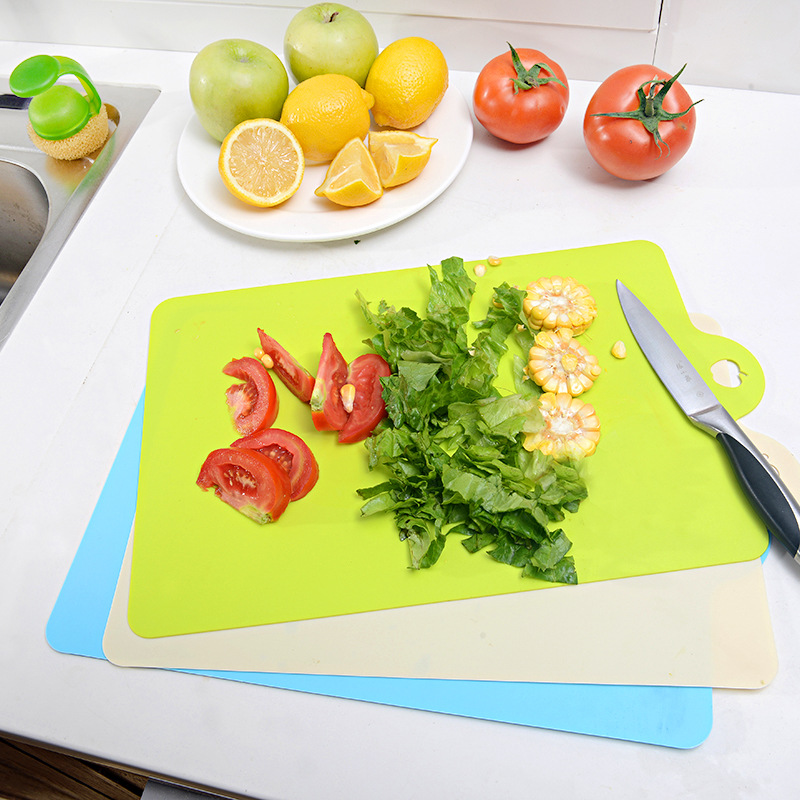 wholesale 100 PCS 38x24cm Fruit Chopping Board Chopping Block Plastic Cutting Board Cutting Board Antibiotic Kitchen Utensils