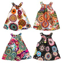 6M-4T Print Vest Baby for Vestido Clothing Outfit Clothes Floral Fashion