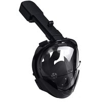 Full Face Snorkeling Mask Set Diving Underwater Swimming masks Training Scuba Mergulho Snorkel Diving Mask For Gopro Camera