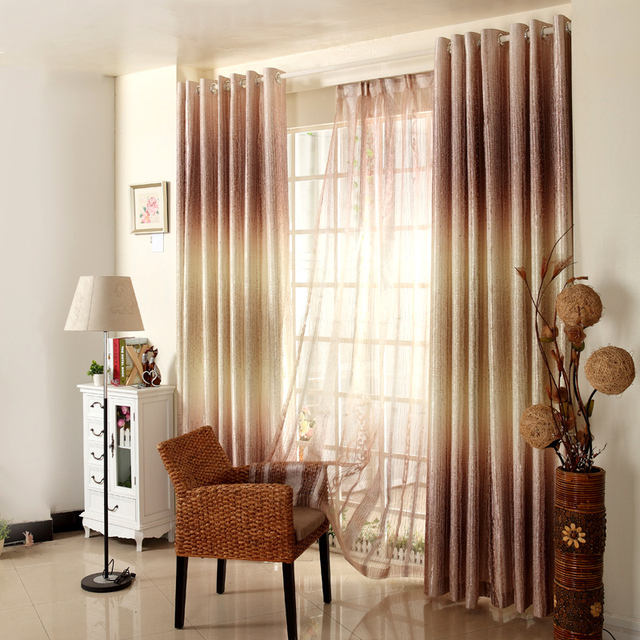 Investigación de la ventana tela breve cortina moderna para el