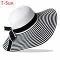 Caps mulheres gorros chapelaria cocar feminino verão Ladies aba larga chapéus de praia grande Floppy Sun Cap
