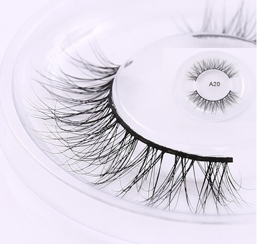 Private Labelling Available 100% Hand Made 3D Mink False Eyelashes  3D Stripe Eyelashes 3D Thick Long Lashes Full Strip Fake