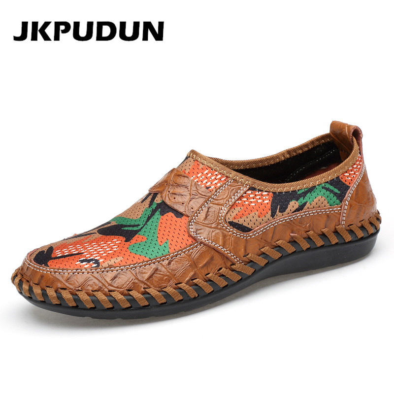 JKPUDUN Summer Mens Air Mesh Shoes Casual Water Shoes Men
