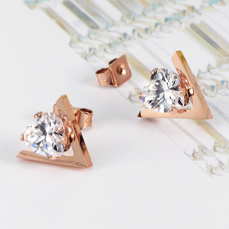 Ζεστό στυλ πώλησης χαριτωμένο σχήμα V - Κοσμήματα μόδας - Φωτογραφία 4