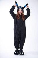 Cosplay Anime Blue Shiny Umbreon Pokemon Onesie Halloween Costumes Adult Women Men Pajamas Romper Fleece