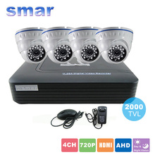 4CH H.264 CCTV HDMI DVR 4PCS 720P AHD Camera Indoor CCTV Camera Home Security System Video Surveillance Kit Day & Night