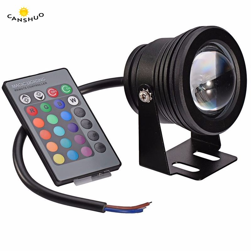 Lights & Lighting Sweet-Tempered Canshuo Ip67 Waterproof Dc12v 10w Rgb Led Underwater Light Aquarium Swimming Pool Light Led Spotlight Stainless For Fish Tank Latest Technology