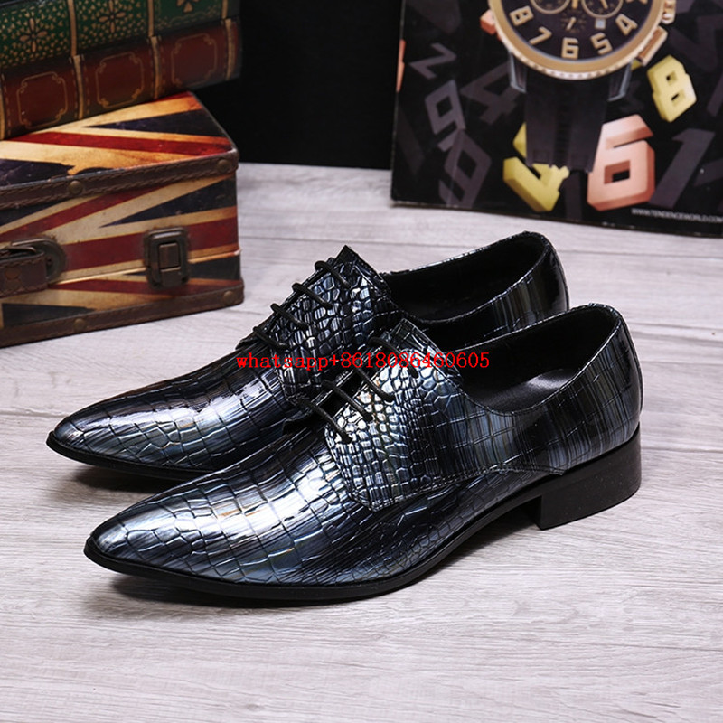 Punk fashion catwalk crocodile shoes personality high heels hair stylist nightclub mens formal shoes alligator shoes for men sexy supermodels catwalk shoes super high heels shoes 20 cm cos props nightclub paris fashion boots