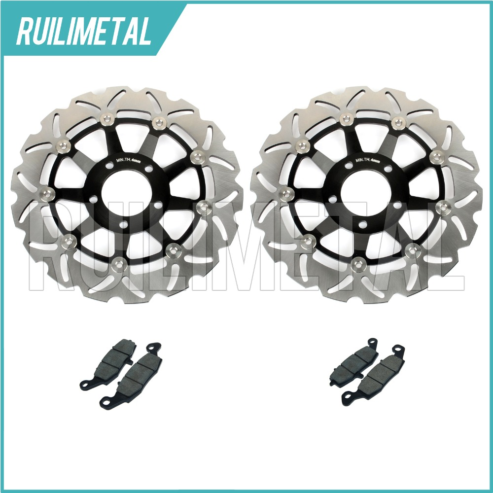 New Front Brake Discs Rotors + Pads Set for Suzuki GSF 600 Bandit / S 00 01 02 03 04 K1 K2 K3 K4 SV 650 S 99-02 GSX 750 F 98-02 clean bandit clean bandit new eyes 2 lp