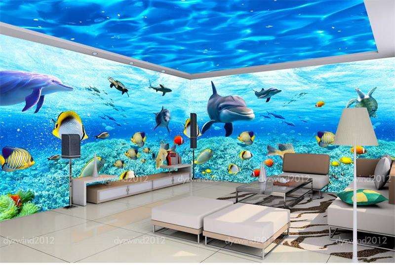 Detail Feedback Questions About Room Wallpaper Custom Murals Non Woven Wall Sticker Under Sea Theme E Photo Tv Sofa Background For Walls