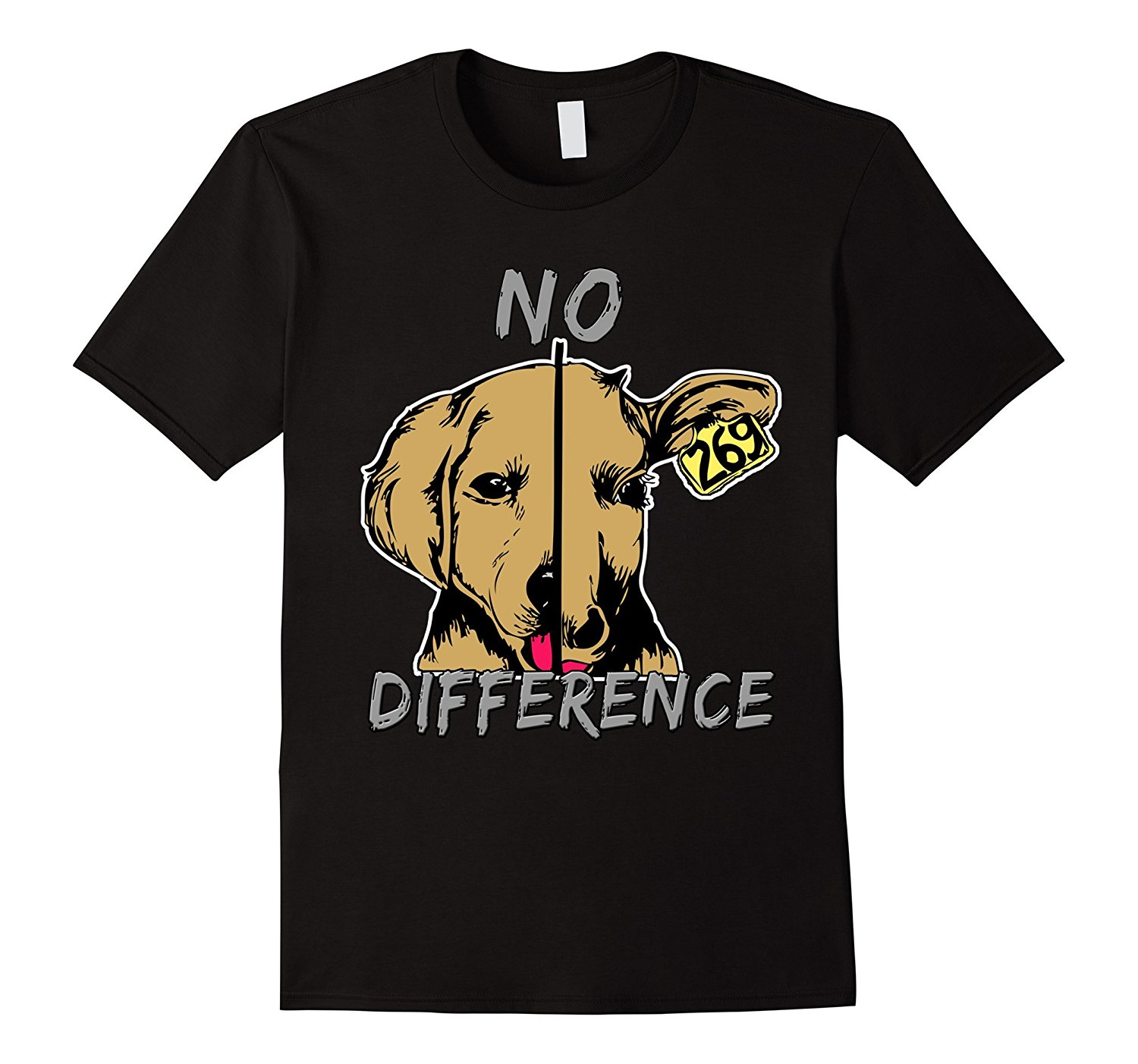 No Difference Dog Cow Vegan Vegetarian Healthy Living   T  -  Shirt   Tee   Shirt   Mens 2017 New   T     Shirts   Printing New 2017 Funny
