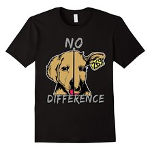 No Difference Dog Cow Vegan Vegetarian Healthy Living T-Shirt