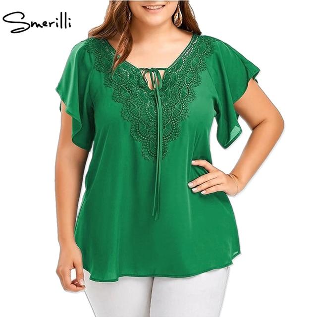 Новое поступление 2018 Для женщин V шеи короткий рукав рубашки Летняя блузка плюс Размеры Топы Элегантная блузка Бохо туника 5XL 4XL Для женщин Blusas