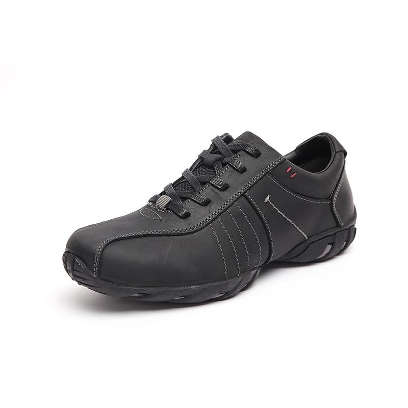 c84c8da2fb Melhor LINGGE Estilo de Negócio Da Marca dos homens Sapatos de Couro  Genuíno lace up Homens Sapato Sola De Borracha Marrom Sapato Masculino  Confortável ...