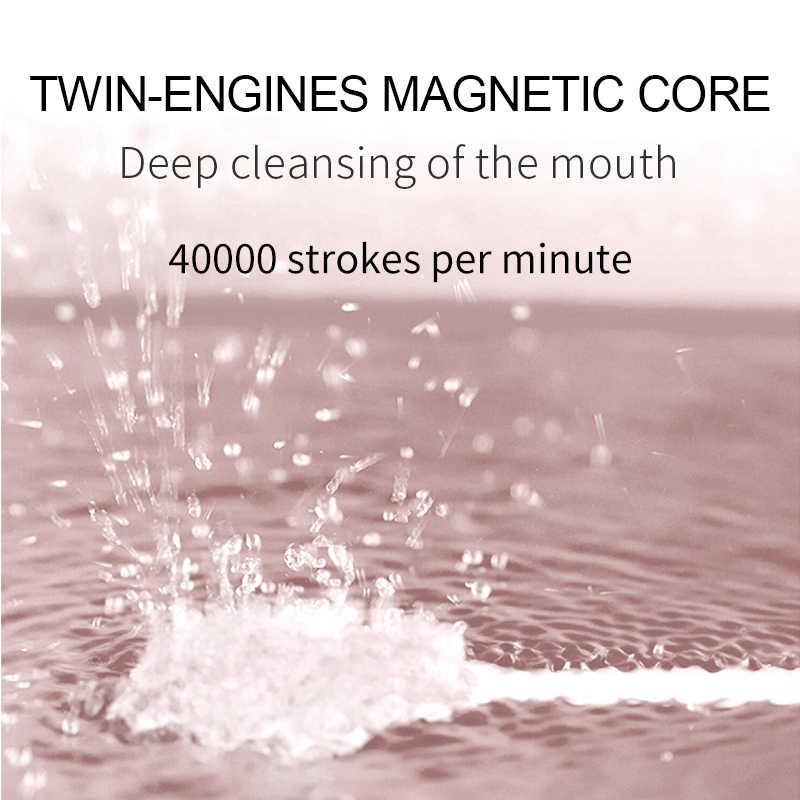 SEAGO S2 فرشاة الأسنان الكهربائية للكبار سونيك escova دي دينتي USB قابلة للشحن مع 2 قطعة استبدال رؤساء قمة الموضة ريال مدريد