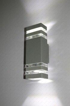 up down 6w 10w led cob wall fixture light outdoor indoor lamp waterproof ip65 bedroom balcony 6W/8W/10W/14W LED Exterior Wall Sconces Waterproof Light Balcony Garage Globe Included Up/Down Lamp Fixture Gray Shell