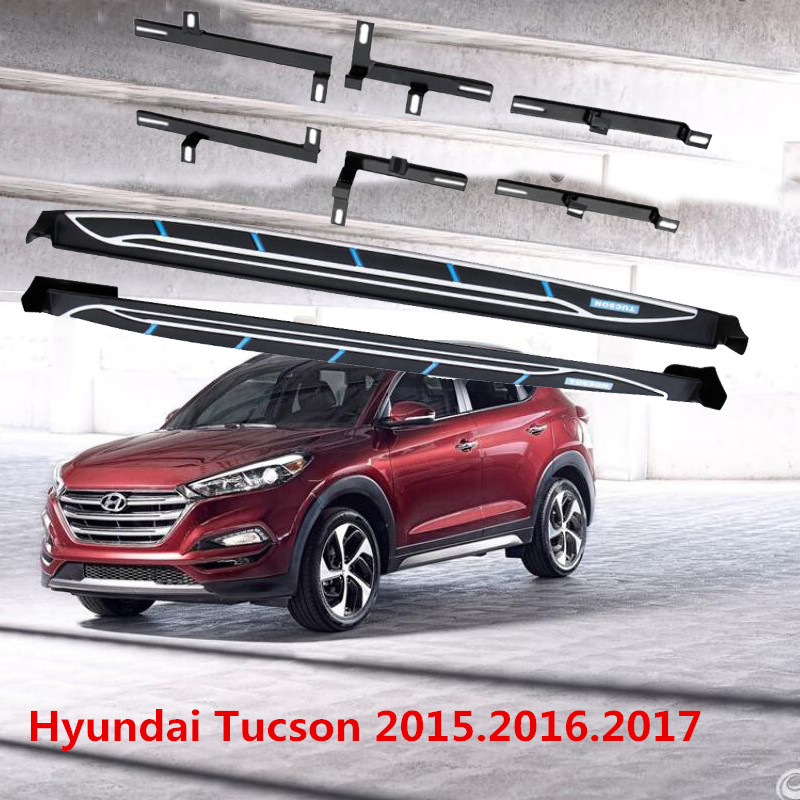 New style side step fit HYUNDAI TUCSON 2016 2017 2018 running boards nerf bar