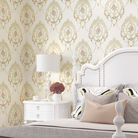 Sweet Mirror Flower Wedding Room Wallpaper Living Room Bedroom 3D Embossed Wall Papers Pink Blue White Wallpapers Roll WP019
