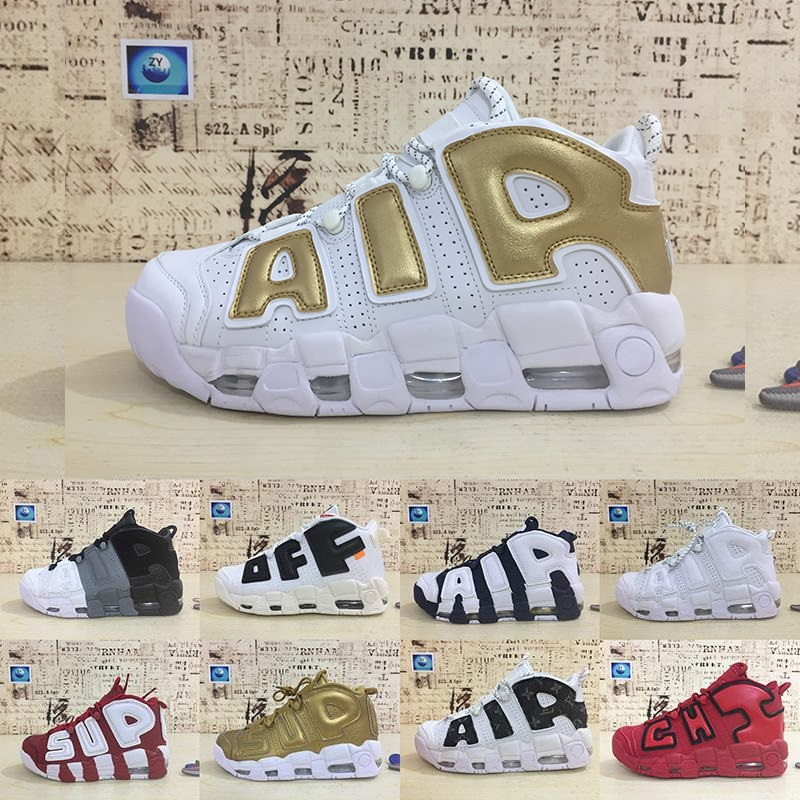 Sports-Shoes Olympic-Team Uptempo More Chicago Women New 96 Fashion 3m Scottie Qs Men's