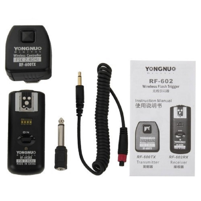 YONGNUO RF-602/N YONGNUO RF-602 RF602 RF 602 2.4GHz Wireless Remote Flash Trigger for NIKON D90 D5100 D700 D3 D5300