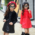 sweet Grils Dress Winter 2016 New Dresses Children Clothing Princess pink dress keep warm with Design Girls Clothing