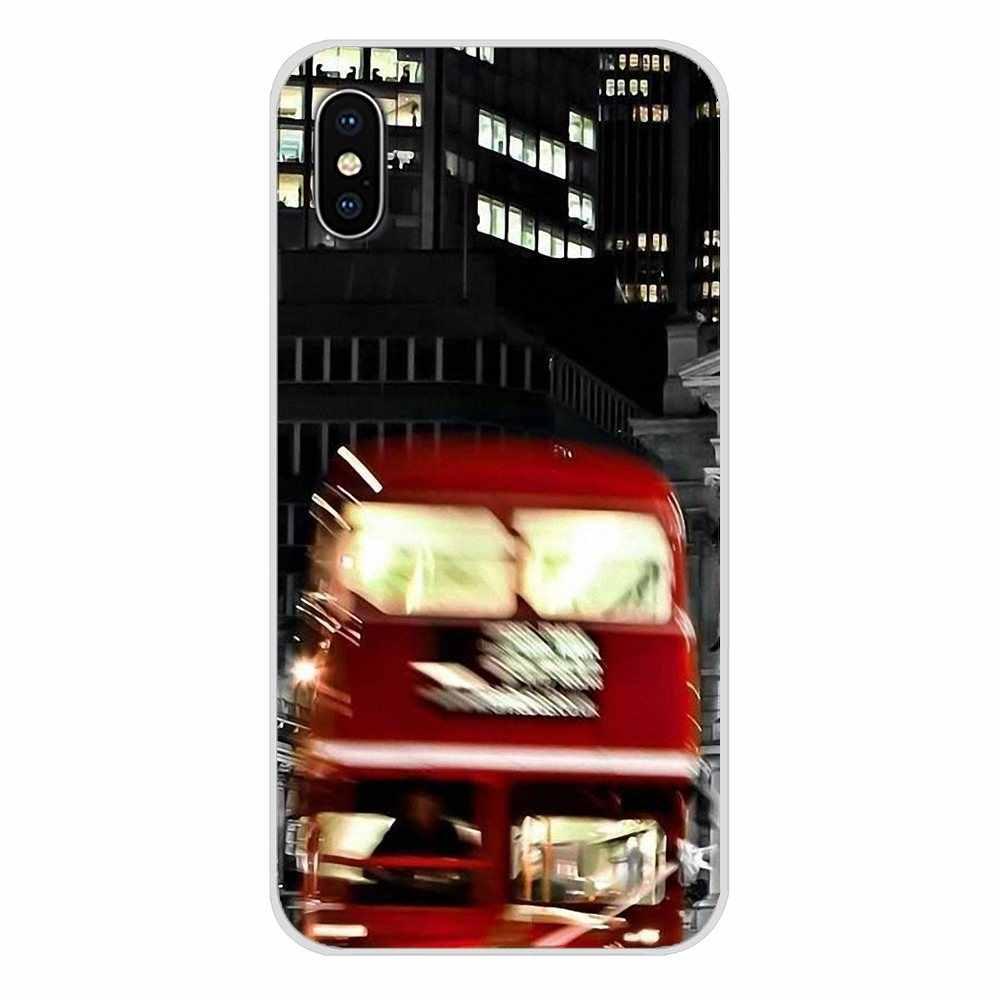 Accessoires coque téléphone couvre pour Huawei P Smart Mate Honor 7A 7C 8C 8X9 P10 P20 Lite Pro Plus londres Bus angleterre téléphone