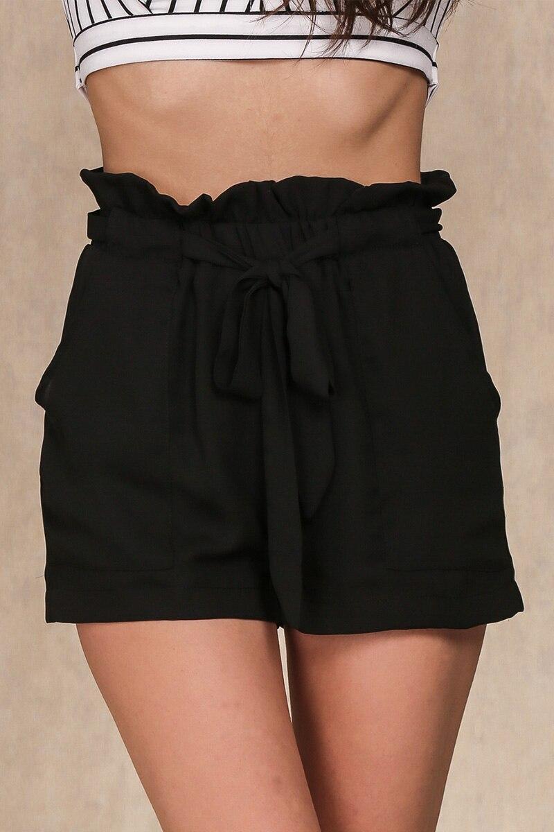 HTB127BJLFXXXXXwXpXXq6xXFXXX5 - Chiffon shorts Bow high waist  belt PTC 94