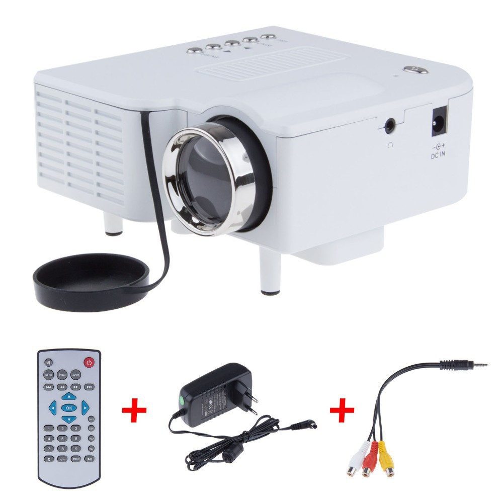 UC28 Mini LED Digital Video Game Projectors Multimedia player Inputs AV VGA USB SD HDMI proyector Built-in Speaker data show Hot