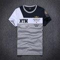 12 cores 2016 marca air force one t-shirt O-neck manga curta camisas dos homens t camisa Bordado A. M. aeronautica militare camisas