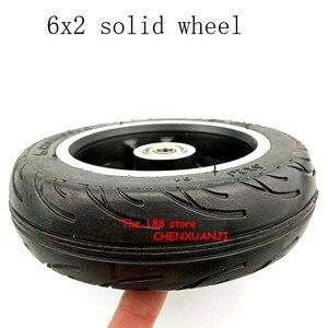 Image 4 - Freies verschiffen 6x2 solide reifen rad hub Schnelle rad F0 verbreitert hinten rad 6 zoll elektrische roller solide reifen rad