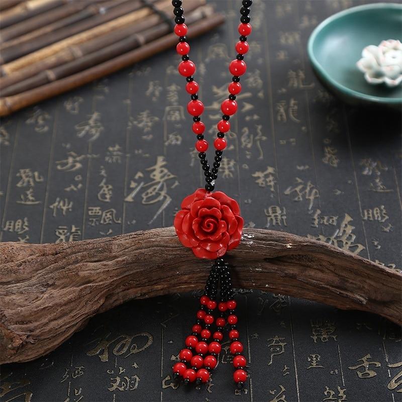 Rouge Chinoise Organic Cinnabar Phoenix Collier Pendentif Charme Bijoux Lucky amulet