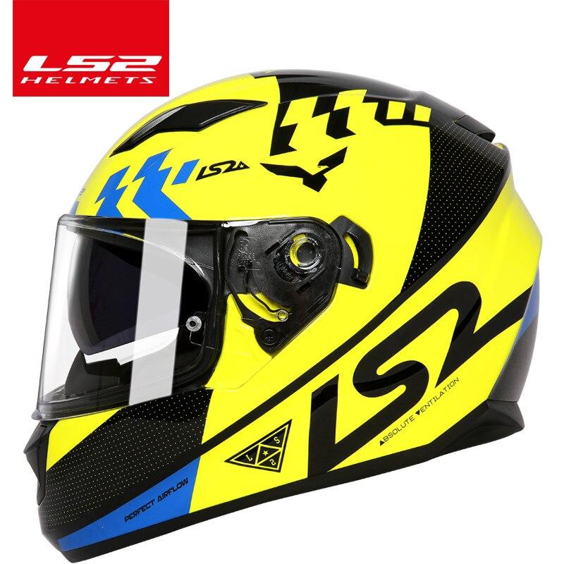 100% d'origine LS2 FF328 casque double lentille moto casque intégré pare-soleil casque moto casque Approuvé DOT pas de pompe