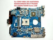 Für sony mbx-269 laptop motherboard da0hk5mb6f0 rev: f hauptplatine getestet ok