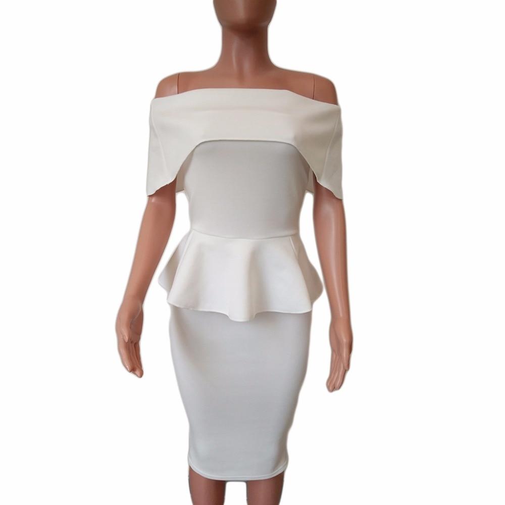 Summer Dresses Women Sexy Slim Package Hip Ruffles Party Dress Work Pencil Sheath Dresses Vestidos Plus Size LJ9148M 4