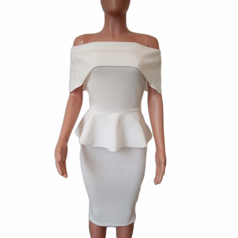 Sommer Kleider Frauen Sexy Dünne Paket Hüfte Rüschen Party Kleid ...