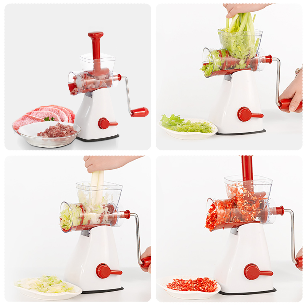 Manual Meat Grinder Hand-Power Food Chopper Mincer Mixer Blender To Chop Meat Fruit Vegetable eilemo meat grinder cutting machine meat slicer mincer cutter portable manual hand blender mixer food processor