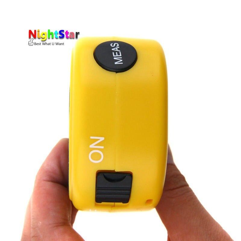 18M Mini Ultrasonic Digital Tape Measure Laser Range Finder Distance Meter & Laser Pointer Rangefinder Level Tool