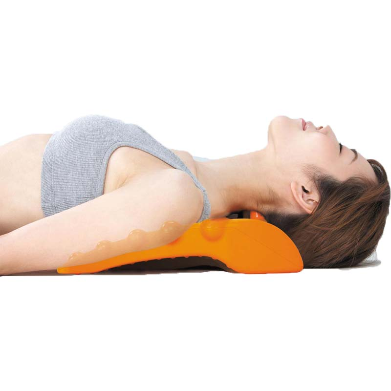 Neck Back Massager Stretcher Waist Spine Relax Back Massage Spine Relief Lumbar Traction Stretching Device Acupressure CCP048 hot selling back massage stretcher stretching magic lumbar support waist neck relax mate device spine