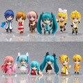 High quality 12pcs/lot  Vocaloid HATSUNE MIKU Family Figures Rin Len Ruka Kaito Meiko Anime Figure Toys