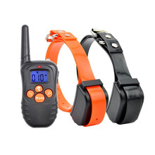 Remote Control Dog Training Collars Rechargeable No Electric Shock Blue Screen Remote Trainer No Shock Bark Stop Pet Products цена