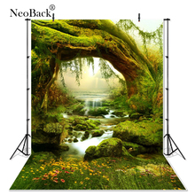 NeoBack 3x5ft Forest Fairy Tale Nature Photography Backgrounds New Born Baby Props Children Photo Backdrops 90x150cm P0026
