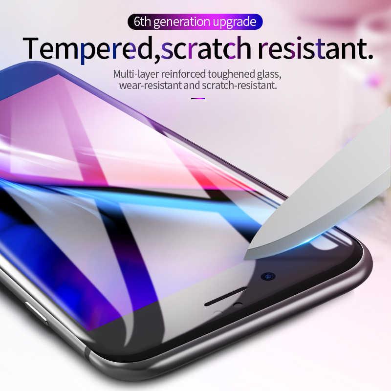 HOCO لابل آيفون 7 8 PLUS ثلاثية الأبعاد خفف زجاج عليه طبقة غشاء رقيقة حامي شاشة إتش دي واقية غطاء كامل شاشة تعمل باللمس حماية