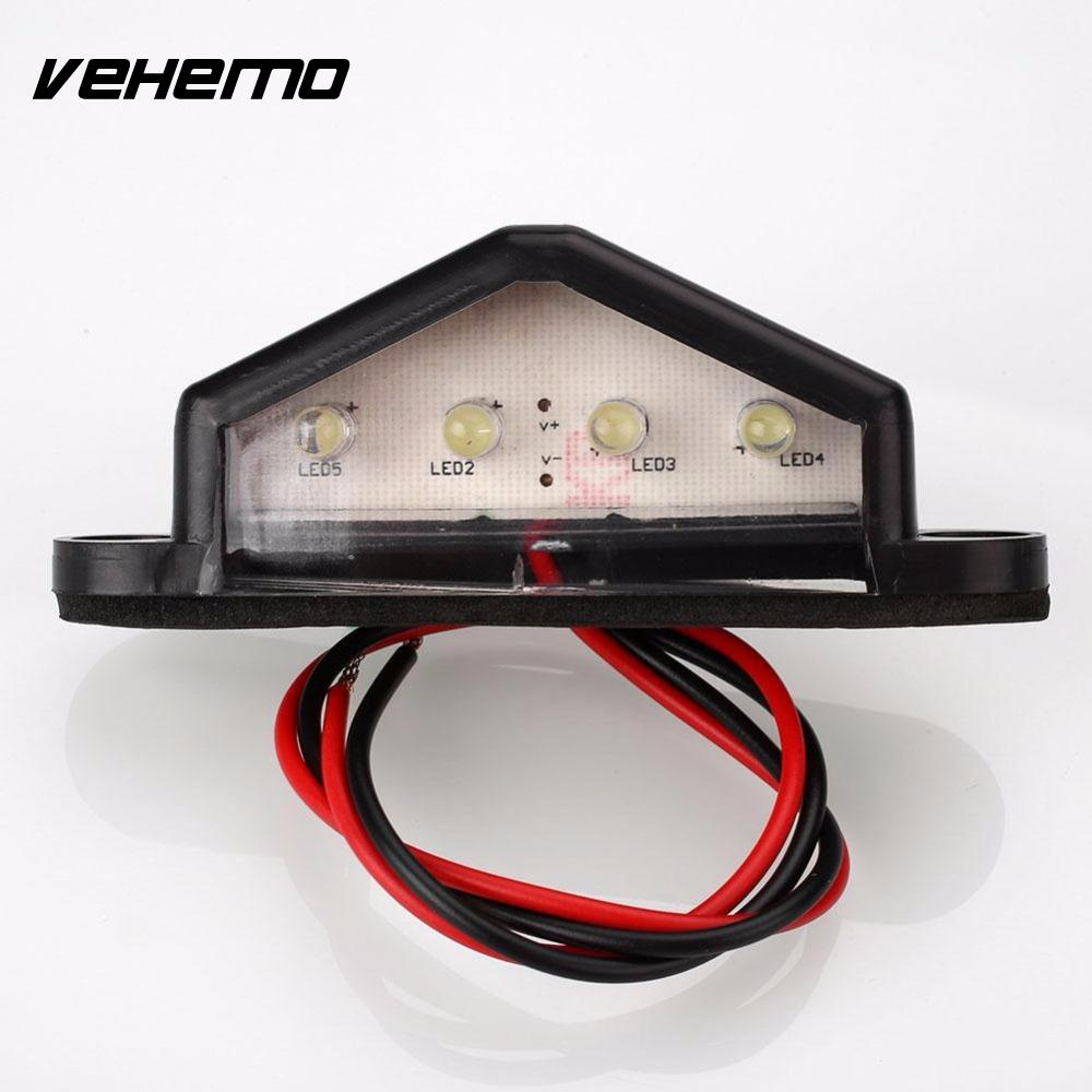 Vehemo 10-30В 4 LED задний хвост номер номерного знака свет лампы для грузовик прицеп Водонепроницаемый