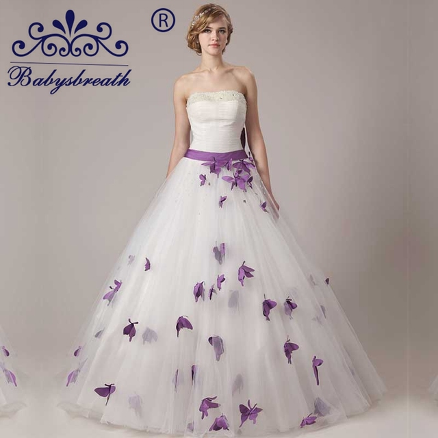Aliexpress Buy 2016 Wedding Formal Dress Tulle Top Butterfly And Flower Decoration Wedding