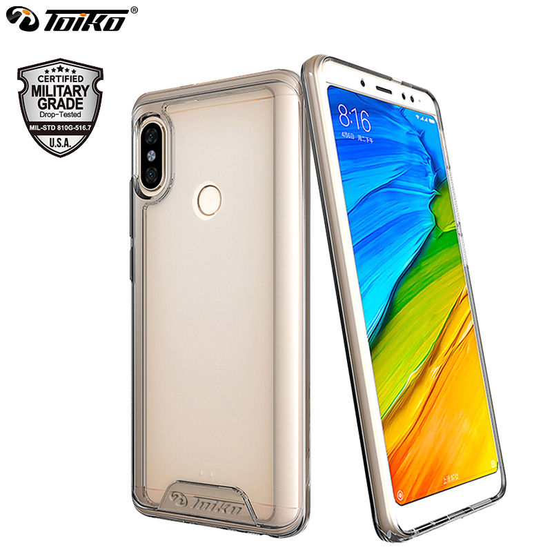 huge discount 3573e a7cb5 US $6.98 52% OFF|TOIKO Chiron Clear Hybrid Case for xiaomi Redmi Note 5  Global Note 5 Pro Shockproof Hard PC Soft TPU Bumper Back Phone Cover  New-in ...