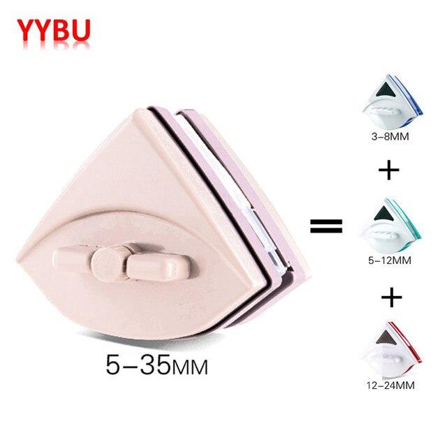 YYBU 5-35 MM Ajustável Janela Magnético Limpa Escova de Limpeza Da Janela de Casa Escova para Lavar Escova De Limpador de Vidro Magnético janela
