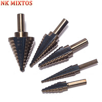 NK MIXTOS 5pcs Set HSS COBALT MULTIPLE HOLE 50 Sizes STEP DRILL BIT SET W Aluminum