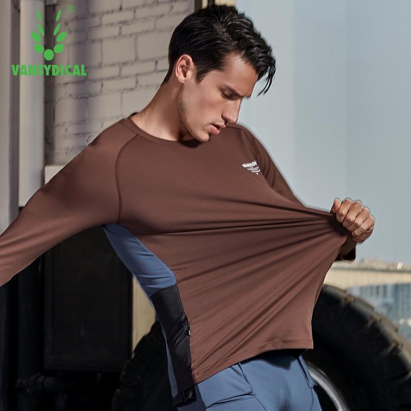 Chemise de Sport hommes Fitness course t shirts 3/4 à manches longues Sport Top tenue de Sport élastique Gym musculation entraînement T shirt Rashgard - 5